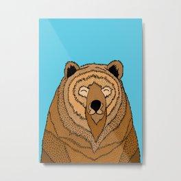 The Happy Bear Metal Print
