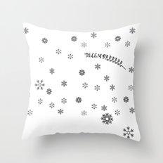 december Throw Pillow