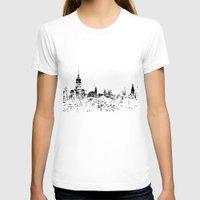 skyline T-shirts featuring Skyline by Massimiliano Bertozzi
