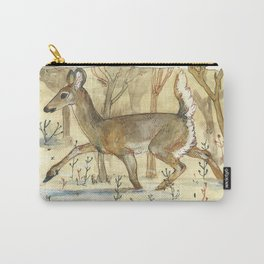 Wintering Deer Carry-All Pouch