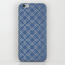 Simply Mid-Century in White Gold Sands on Aegean Blue iPhone Skin