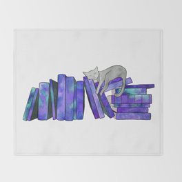 Literary Naps in Purple Throw Blanket