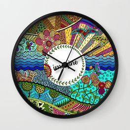 Imagine (coloured) Wall Clock