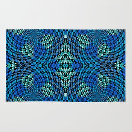 Retro Psychedelic Patchwork Geometry Rug