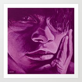 pensar - violet Art Print