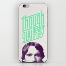Though guy never cries iPhone & iPod Skin