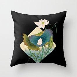 lotursflowers D : Minhwa-Korean traditional/folk art Throw Pillow