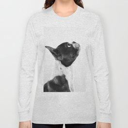 Boston Terrier Profile Long Sleeve T-shirt