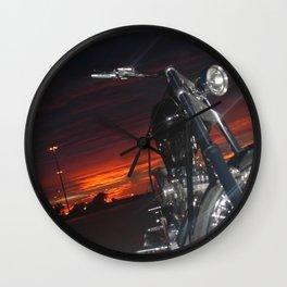 Sunset Motorcycle Wall Clock