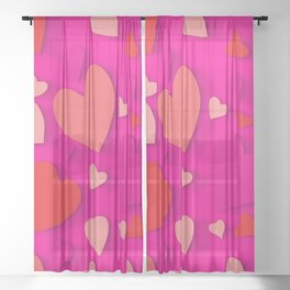 Decorative paper heart 3 Sheer Curtain
