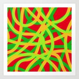 lively lines Art Print