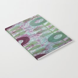Zinnias in Purple and Green Notebook