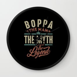 Boppa The Myth The Legend Wall Clock