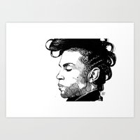 prince Art Prints featuring Prince by Maxeroo