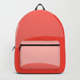 Living Coral Sushi Salmon Abstract Backpack