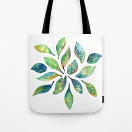 Watercolor floral leaf pattern Tote Bag