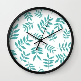 Background with branch silhouettes. Wall Clock