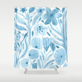 Swept Away Wildflowers Shower Curtain