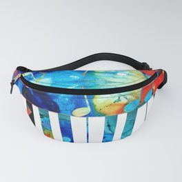 Colorful Piano Art by Sharon Cummings Fanny Pack