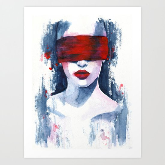 Blind love is  Art Print