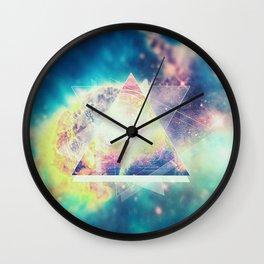 Awsome collosal deep space triangle art sign Wall Clock