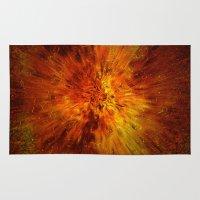 big bang Area & Throw Rugs featuring big bang by siloto