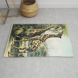 Giraffe from Johnsons household book of nature (1880) by John Karst (1836-1922) Rug