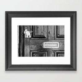 Enter Framed Art Print