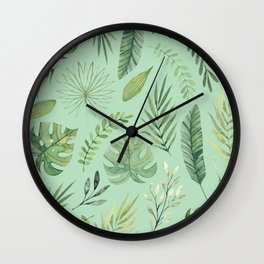 Leaves 10 Wall Clock