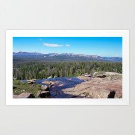 Uinta Mountain Water  Art Print