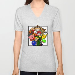 Super Smash 64 Roster Unisex V-Neck