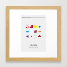 Mr. Men Framed Art Print