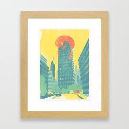 SlumberBean Tower-block Framed Art Print