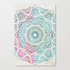 Watercolor Mandala Canvas Print