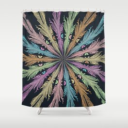 Tickle Giggle Feather Shower Curtain
