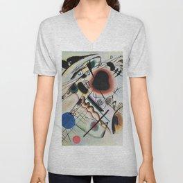 Wassily Kandinsky - Black spot Unisex V-Neck
