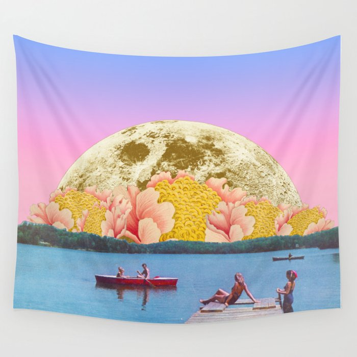Pink lake Wall Tapestry by trasvorder | Society6