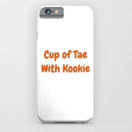 Tae with Kookie iPhone Case