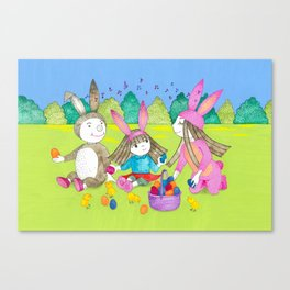 Easter egg hunt Canvas Print