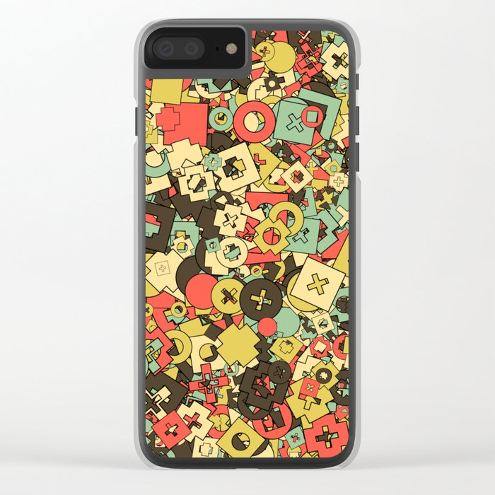 Nineteen Shapes Clear iPhone Case