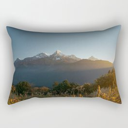 Sunrise on Machhapuchhare, Nepal Rectangular Pillow