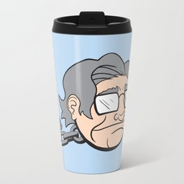 Chain Chompsky - Bizarre Mashup of Noam Chomsky and a Chain Chomp from Super Mario Bros Travel Mug