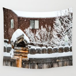 Snow House Wall Tapestry