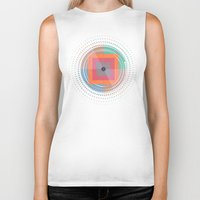 positive Biker Tanks featuring Positive geometry by ViviGonzalezArt