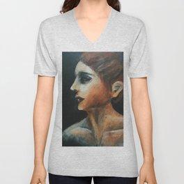 Warm Silence - Acrylic painting Unisex V-Neck