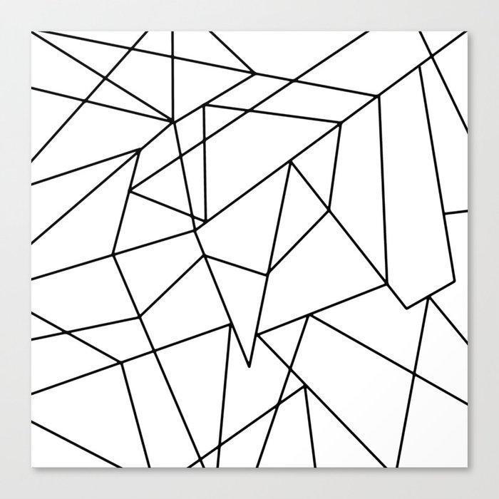 Simple Modern Black and White Geometric Pattern Leinwanddruck