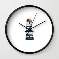 lighthouse Wall Clocks featuring Lighthouse  by craftberrybush