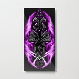 Skull ornament purple Metal Print