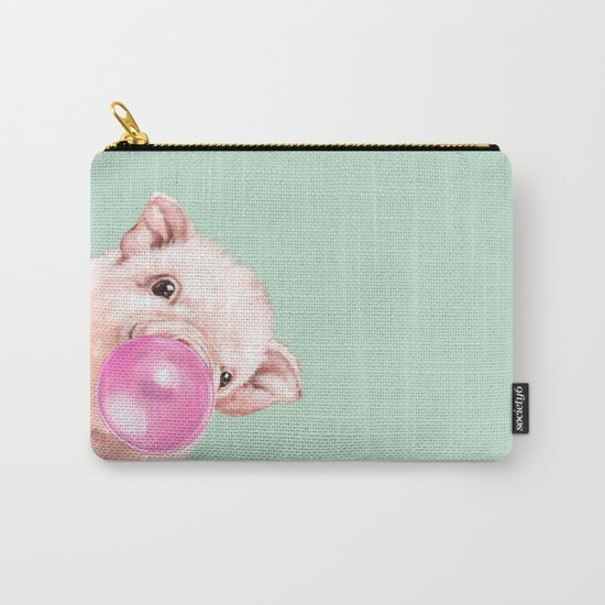 Bubble Gum Sneaky Baby Pig in Green by bignosework
