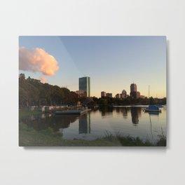 Charles River Sunset Metal Print